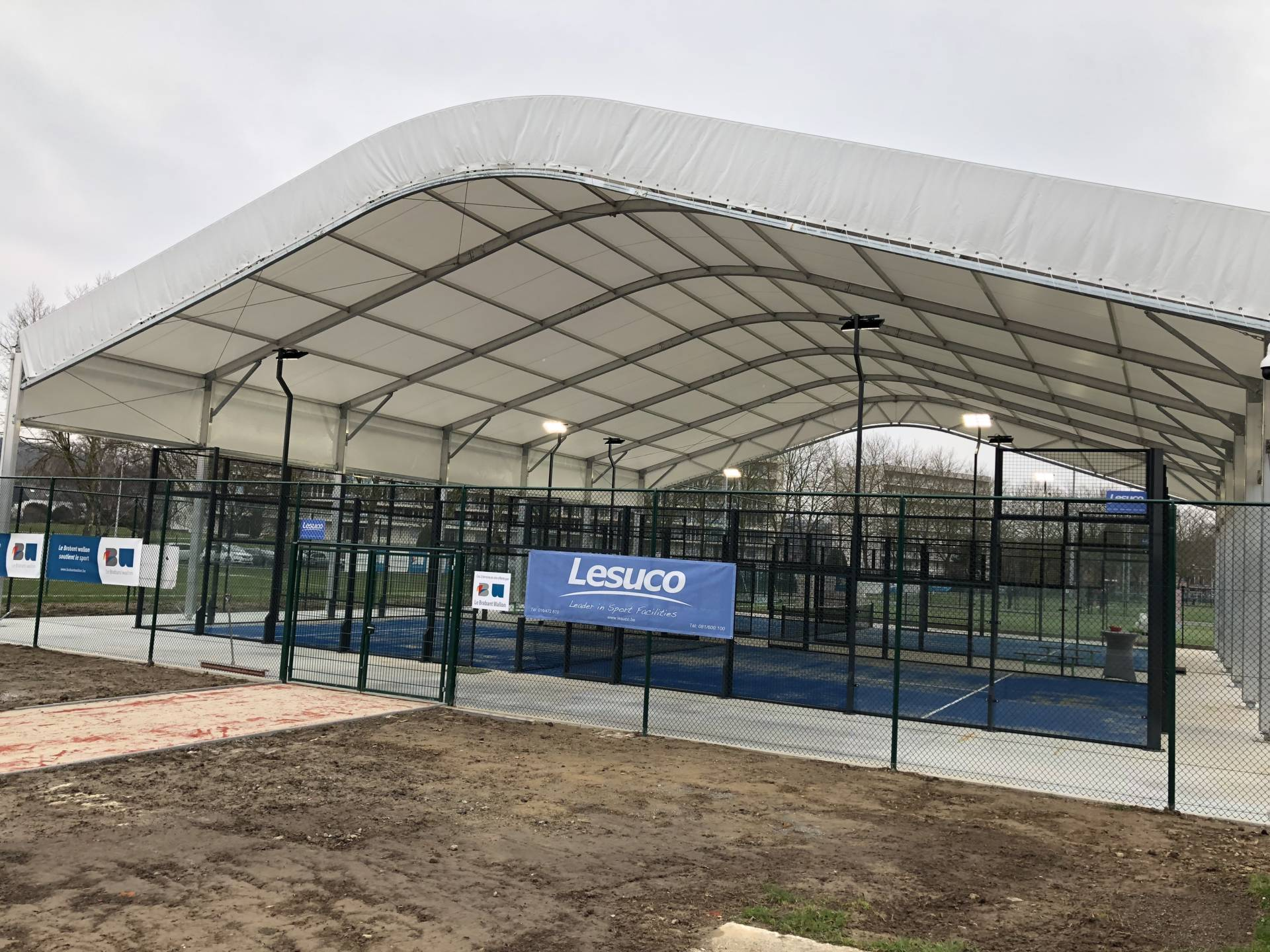 Construction Padel couvert wavr